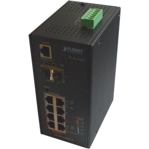 IGS-4215-4P4T2S Industrial DIN Rail GE Switch 8x RJ45 (4x PoE+), 2x SFP Port, managed