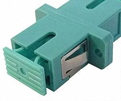 Dust Caps for SC Connector Jack, 10pcs., Special-Color aqua
