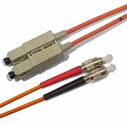 Fiber Optic Patch Cable OM2 Multi-mode 50/125µm, Duplex, SC/PC-FC/PC