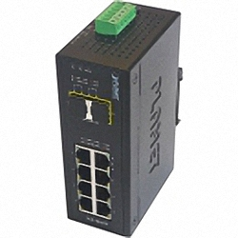 IGS-1020TF Industrial DIN Rail GE Switch 8x RJ45, 2x SFP Port